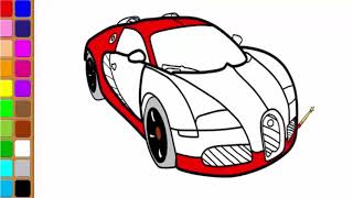 How To Draw  Car | Easy drawing for kids| Cartoon Car|