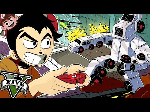 GIANT INDESTRUCTIBLE ROBOT HACK! (GTA5 ONLINE - Chilled & Friends)