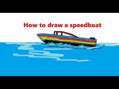 how to draw a speedboat step by step