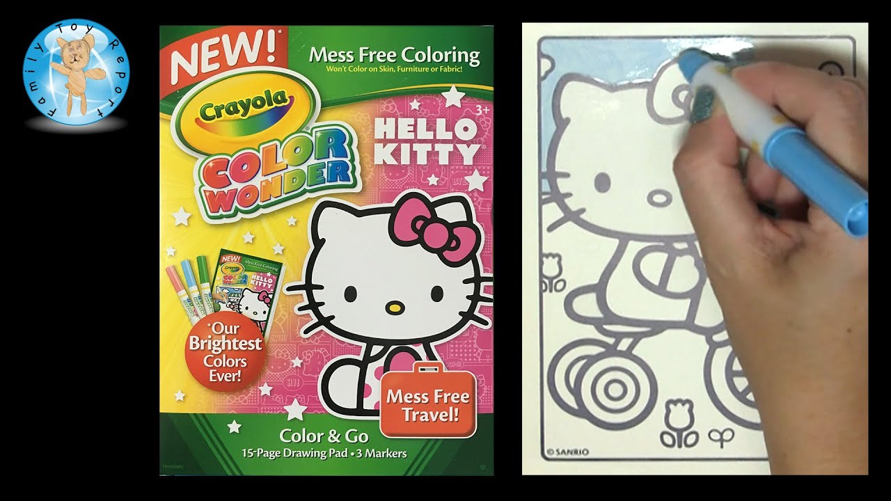 Crayola Color Wonder Hello Kitty Coloring Book Bicycle - Family Toy Report