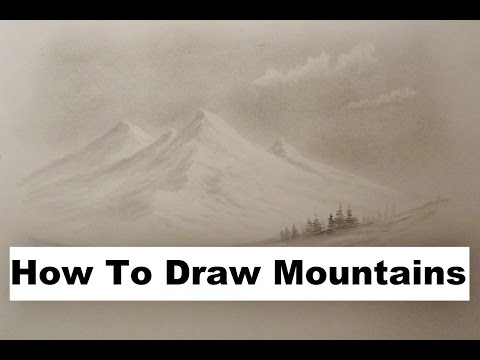 How To Draw Mountains, Bob Ross Style