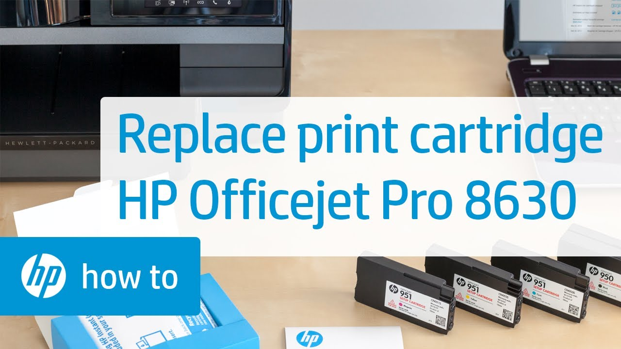 Replacing A Print Cartridge On The Hp Officejet Pro 8630