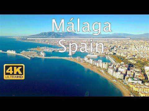Málaga - Spain   4K UHD Drone Footage   DJI MAVIC PRO   Standardroutine