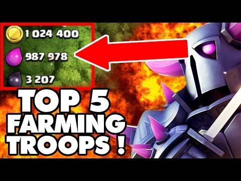 Clash Of Clans | TOP 5 FARMING TROOPS 2016 AFTER TOWN HALL 11 UPDATE! | For TH7 8 9 10 & 11