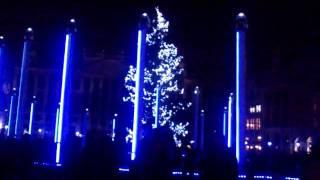 Световое шоу на площади гранд плас в брюсселе