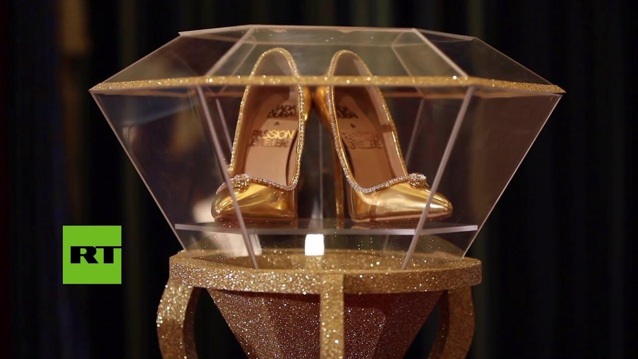 Presentan en Dubái los zapatos más caros del mundo - YouTube be136e0a3e92