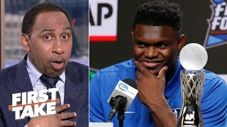 Zion has been playing against boys, he's about to face men in the NBA - Stephen A. | First Take