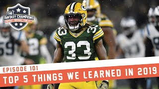 Fantasy Football 2019: Top 5 Things We Learned From 2019 Fantasy Football | Ep.#101