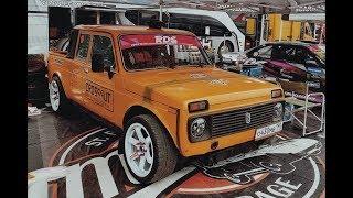 Нива с V8. Разложили об отбойник на RDS в Рязани
