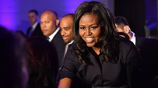 'They said that I talked like I was white': Michelle Obama delivers speech at London school