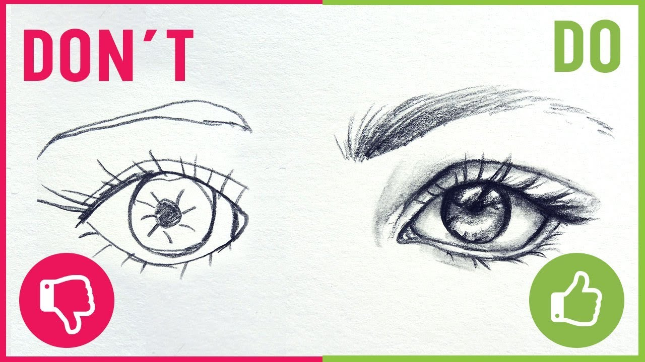 DO'S & DON'TS / How To Draw Realistic Eyes【Easy Drawing