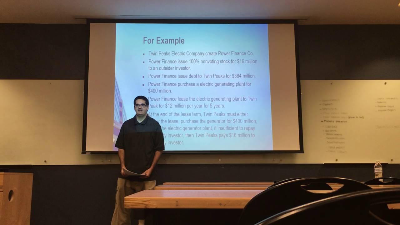 Variable Interest Entities - Presentation