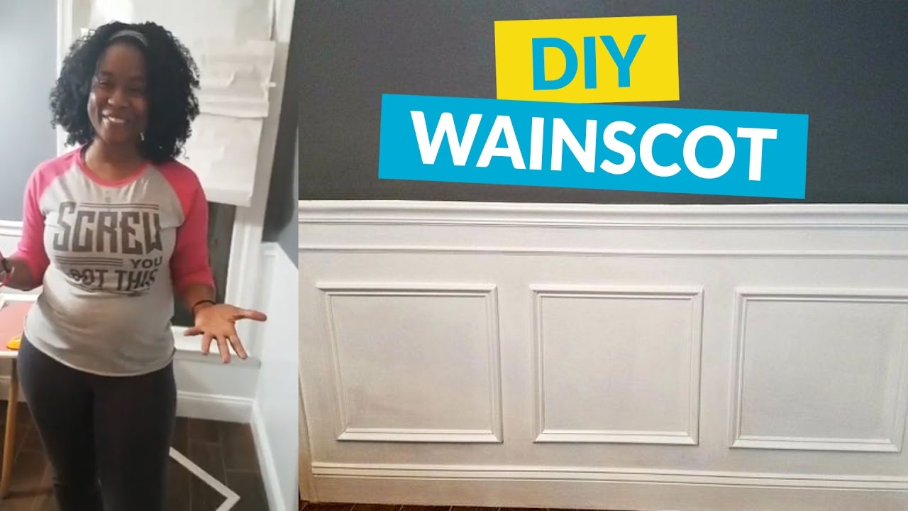 Wainscoting picture frame choice image craft decoration ideas dress up your walls with wainscotingpicture frame molding youtube dress up your walls with wainscotingpicture frame jeuxipadfo Images