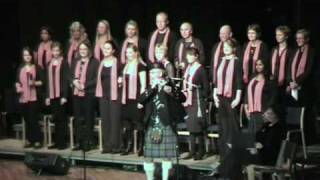 Bagpipe playing Amazing Grace with a gospel choir
