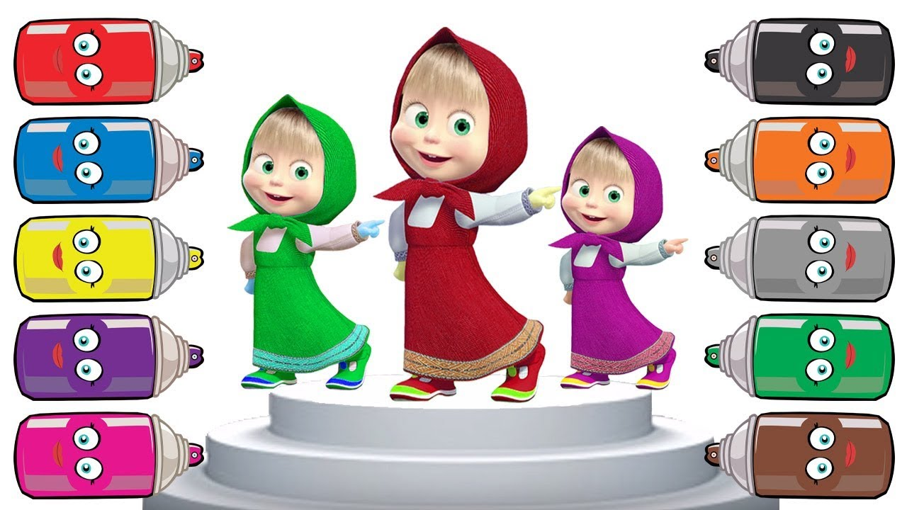 Learn Colors with Masha And The Bear Finger Family Rhymes for kids - Video for children