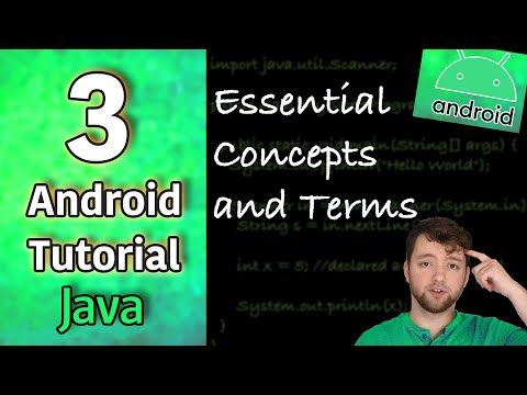 Android App Development Tutorial 3 - Essential Concepts and Terms | Java thumbnail