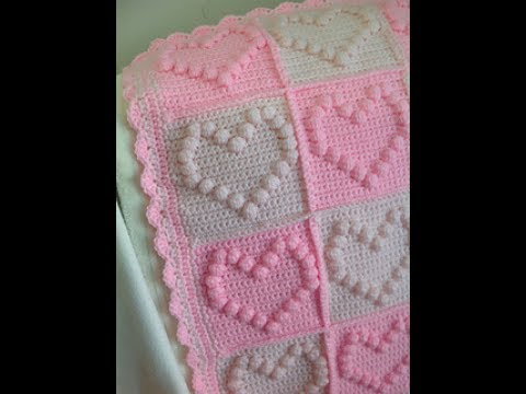 Diy Tutorial Bobble Stitch Heart Square Crochet Bubble Heart