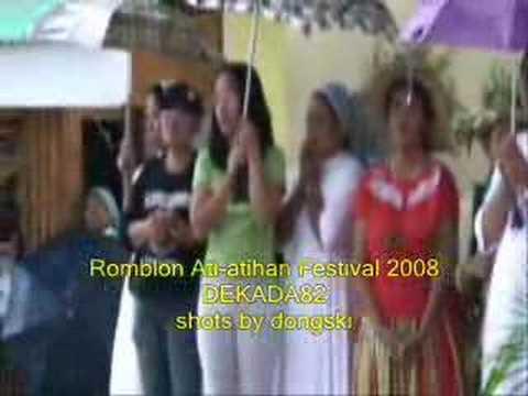 ROMBLOMANON - Romblon,Romblon Ati-atihan festival  Part 1