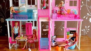Barbie Dolls Living room Barbie Kitchen Dollhouse Furniture set and Barbie Dreamhouse 芭比豪宅