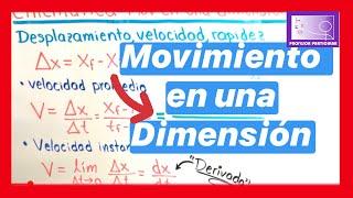 Cinemática movimiento en una dimensión | Física