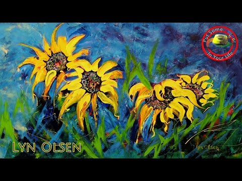 Acrylic Painting Techniques And Tutorial With Lyn Olsen I Colour In Your Life