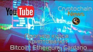 Прогноз курса криптовалют Bitcoin, Ethereum, Cardano. Продолжит ли рост биткоин