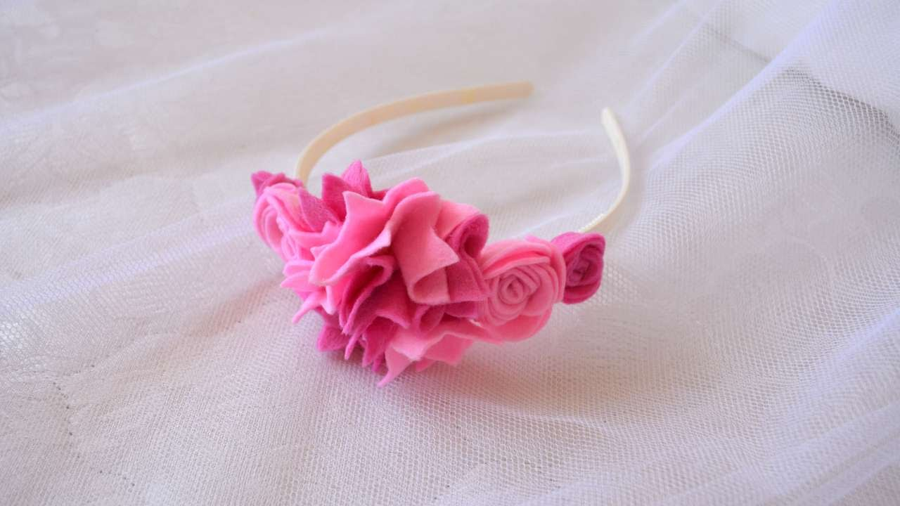 How To Make A Beautiful Flower Hair Band Diy Crafts Tutorial