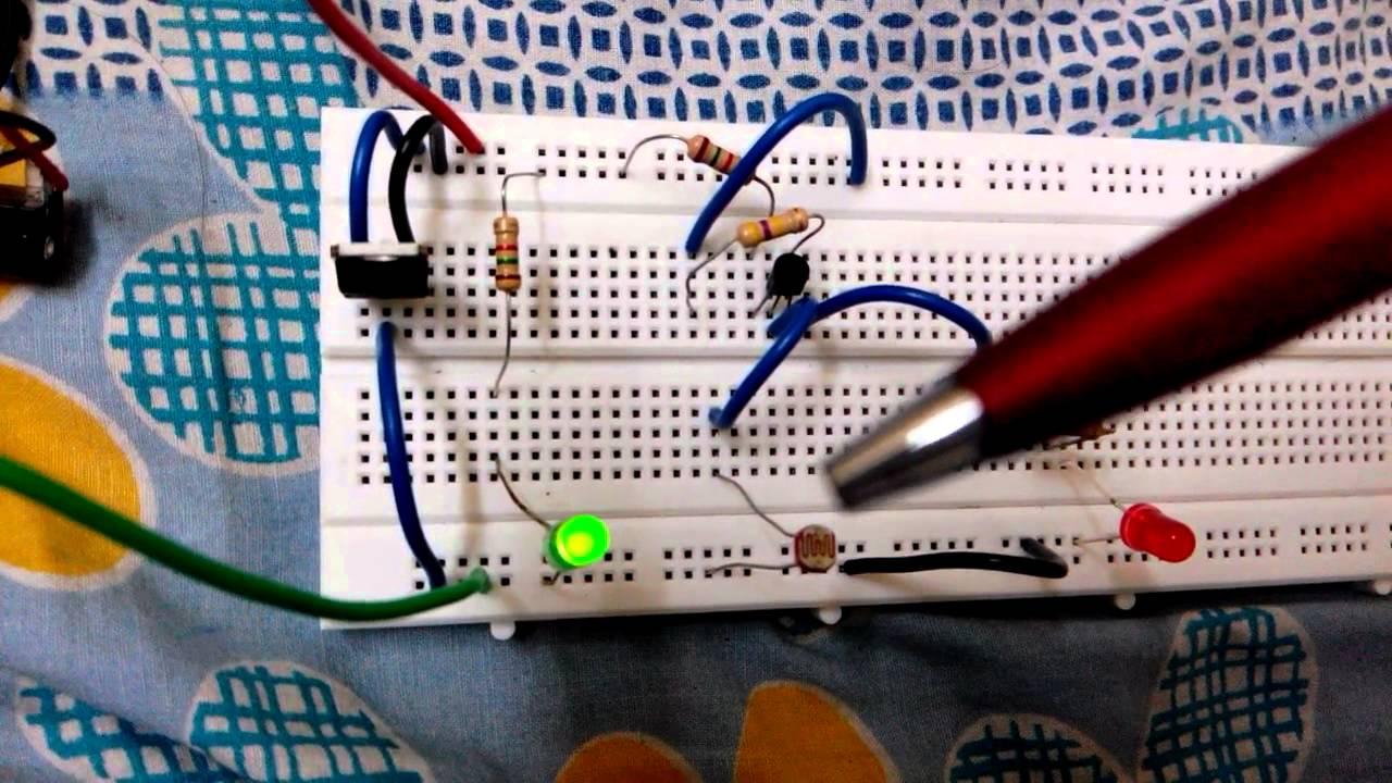 LDR operation as Light Sensor - YouTube