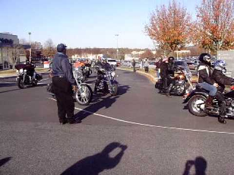 Toys For Tots Motorcycle Ride December 28 2010 In Gastonia