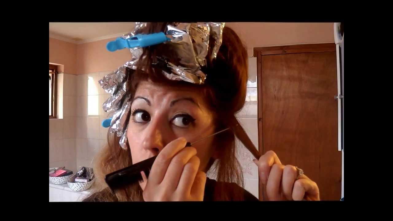 Tuto coiffure comment faire des m ches soi m me la maison et en plus une teinture partie - Comment faire une meche de bougie ...