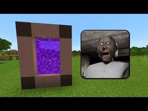 How To Make a PORTAL to the GRANNY HOUSE Dimension in Minecraft PE (Granny Horror Portal in MCPE)