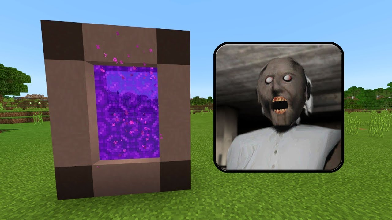 How To Make A Portal To The Granny House Dimension In Minecraft Pe Granny Horror Portal In Mcpe