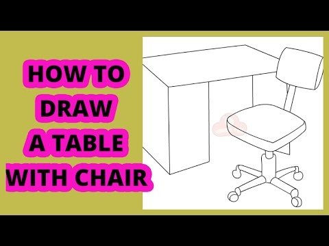 How To Draw A Table With Chairs Youtube
