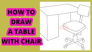 How To Draw A Table With Chairs