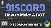 Introduction and basic bot - making Discord bots with Discordpy p 1