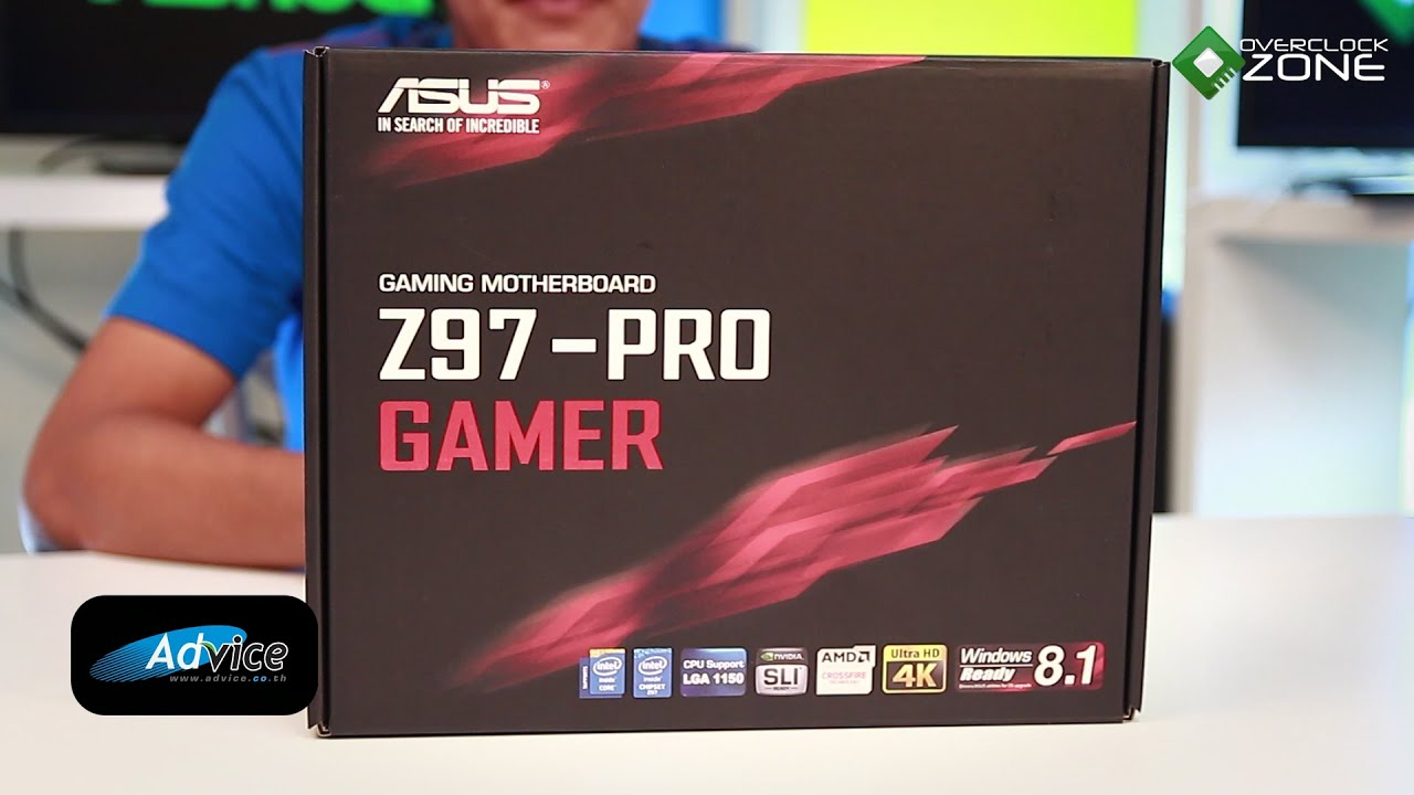 OverclockZone TV EP.594 : ASUS Z97-PRO Gamer (HD) - YouTube
