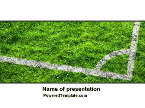 Soccer Playground PowerPoint Template By PoweredTemplate.com
