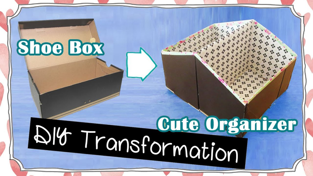Diy room organization storage idea recycling project for Reuse shoe box ideas