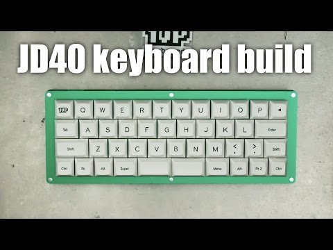 The ultimate little mechanical keyboard, the JD40, built from scratch