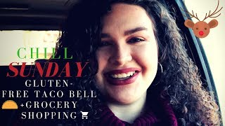 GLUTEN FREE TACO BELL + GROCERY SHOPPING | 12 Days of Christmas Day 3