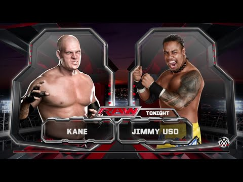 WWE 2K15 Kane vs Jimmy Uso Normal Match 2015 (PS4) HD