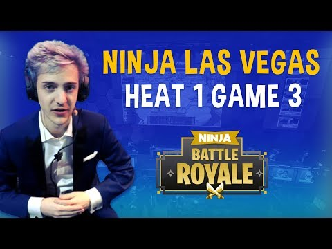 Ninja Las Vegas Heat 1 Game 3 - Fortnite Battle Royale Gameplay