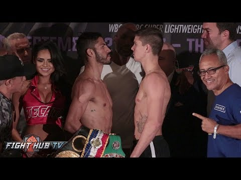 JORGE LINARES VS. LUKE CAMPBELL FULL WEIGH IN & FACE OFF VIDEO