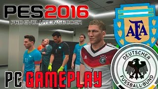 PES 2016 | Alemania vs Argentina: ¿Revancha? | PC Gameplay