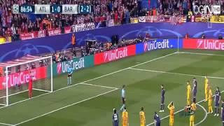مخلص مباراة اتلتيكو مدريد وبرشلونة 2 0 الملخص كامل دوري أبطال أوروبا 2016 /4 /13  HD