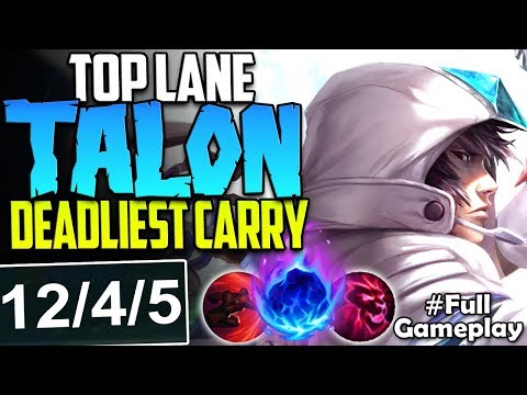 TOP LANE TALON THE DEADLIEST CARRY | 415 AD INSTANT KILLS |
