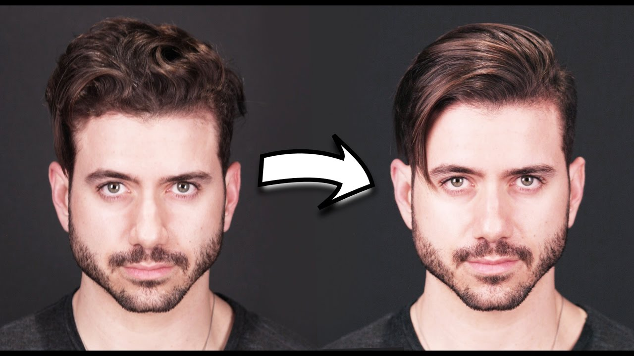 How To Get Straight Hair Men S Curly To Straight Hair Tutorial 2019
