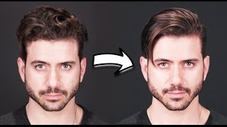 HOW TO GET STRĄIGHT HAIR | Men's Curly to Straight Hair Tutorial 2019