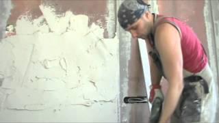 Штукатурка гипсовой смесью по маякам.(В видео показан процесс выравнивания стен с помощью гипсовой штукатурки. Строительные хитрости и нюансы..., 2015-02-11T16:32:44.000Z)