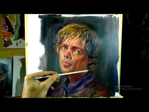 Painting Peter Dinklage's Portrait in Oil paint